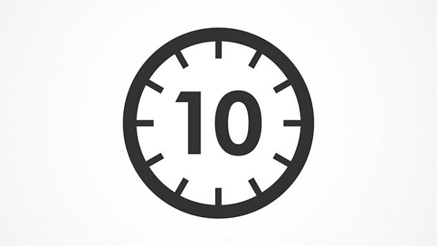 10 second dry time logo
