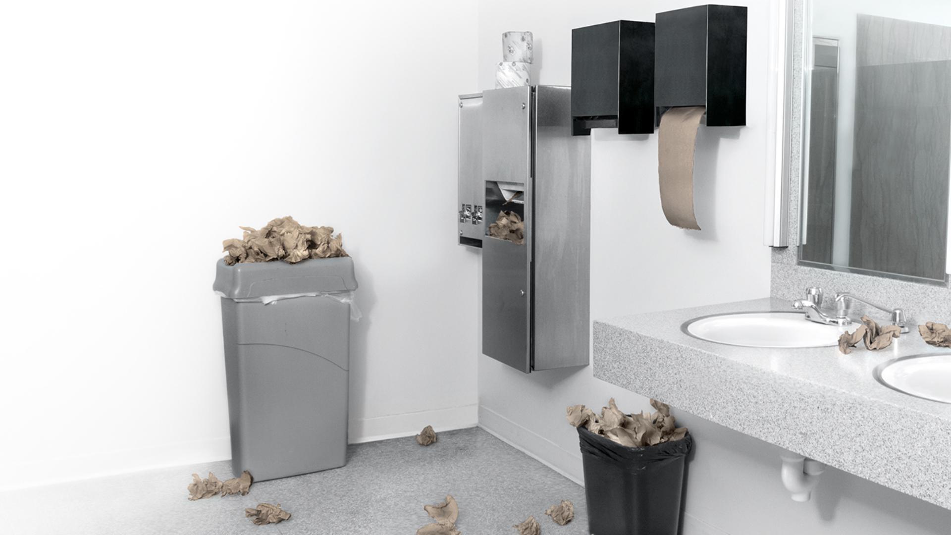 Área de baño sucio