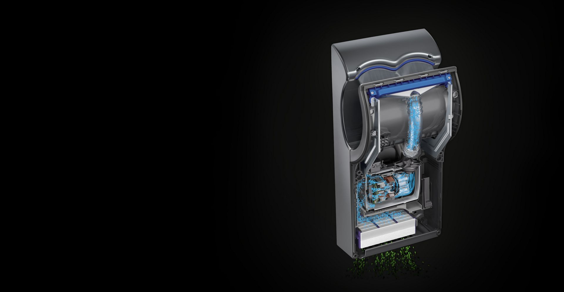 Detailed image of Dyson Airblade dB technology