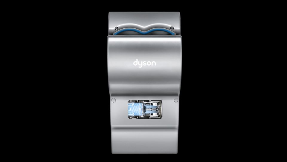 Dyson Airblade dB hand dryer with motor exposed