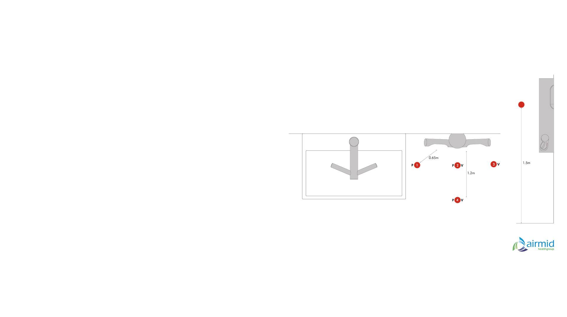 مخطط لمجففات الأيدي Dyson Airblade في مختبر Airmid