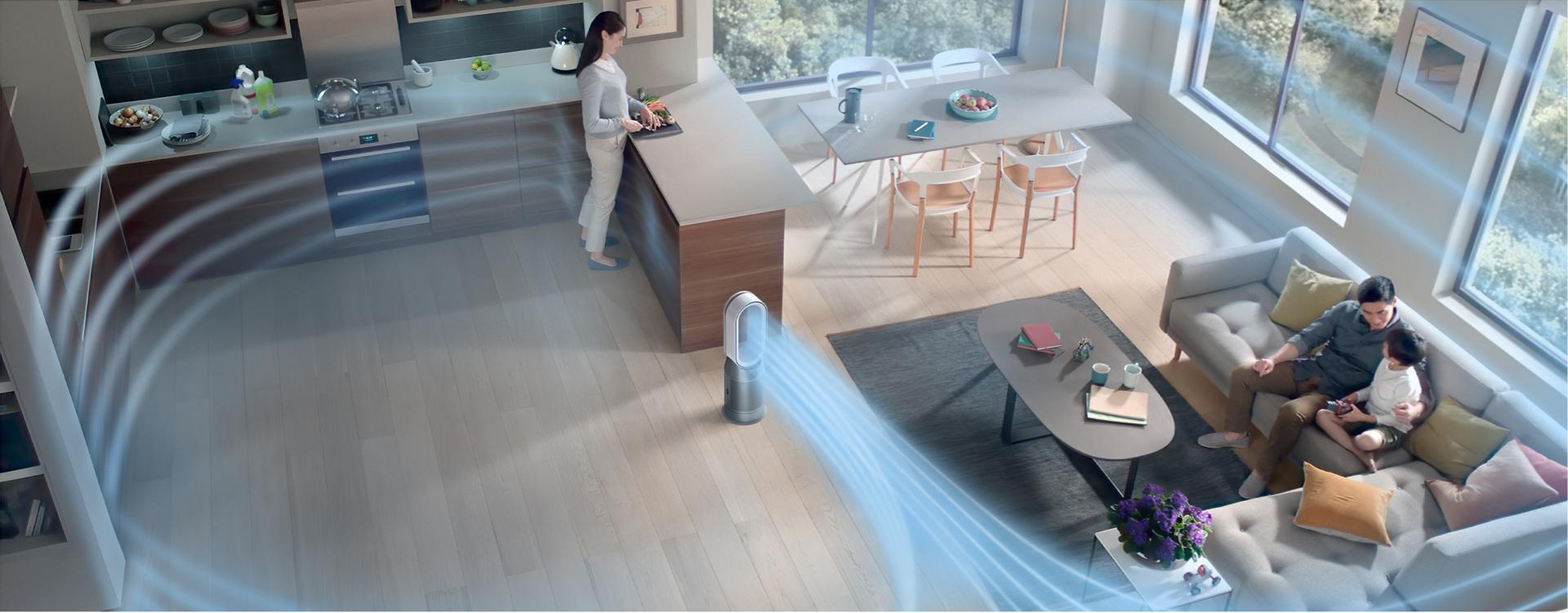 Dyson purifier hot+cool formaldehyde purifying a large living space