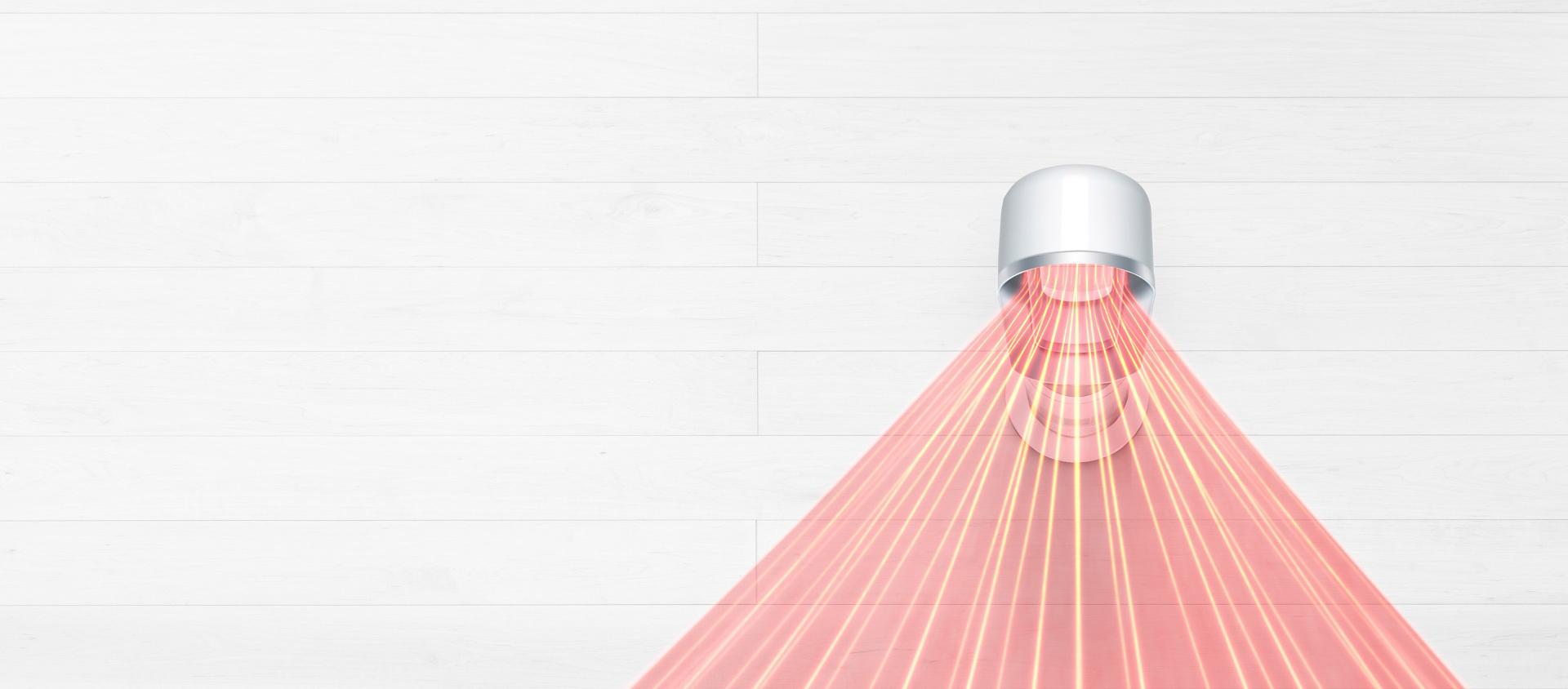 Dyson fan heater airflow from above