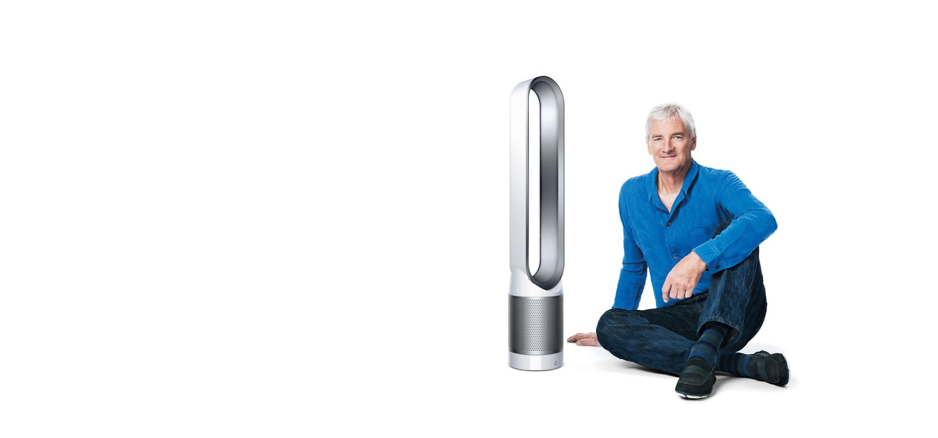 James Dyson with Dyson Pure Cool Link™ tower purifier
