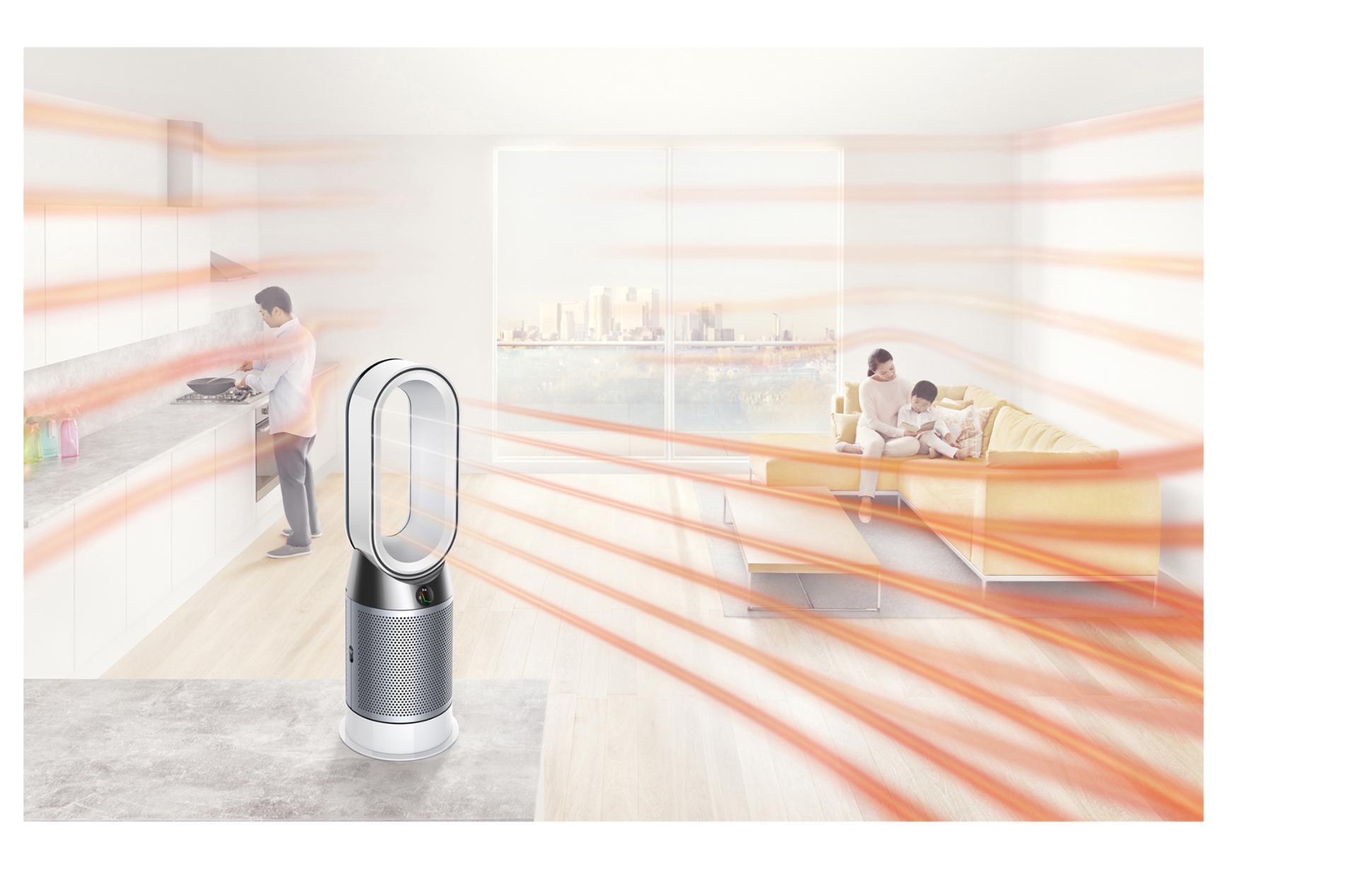 Dyson Pure Hot+Cool Havayı Temizleyen Fan çalışırken