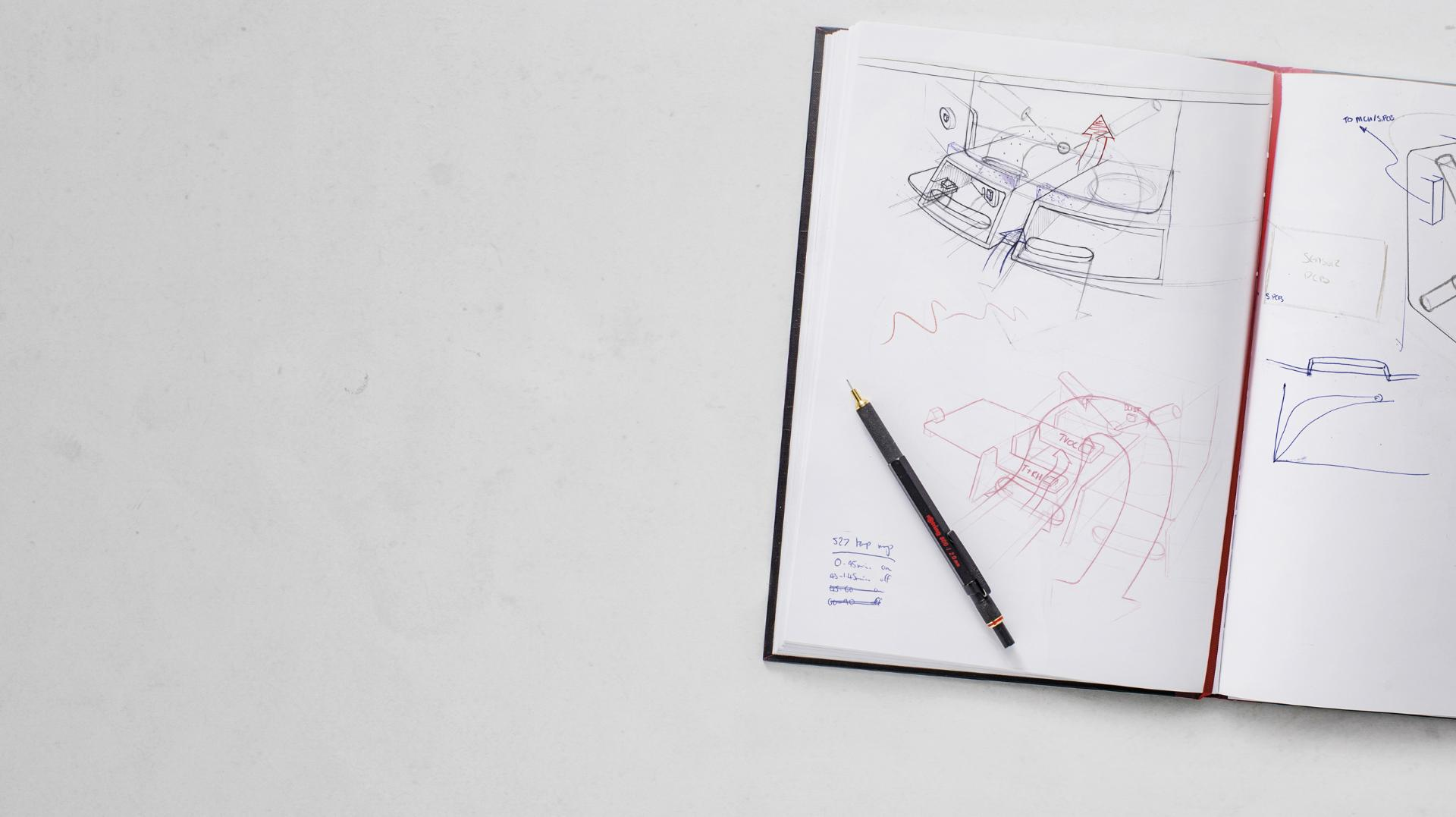 Dyson engineer sketch book