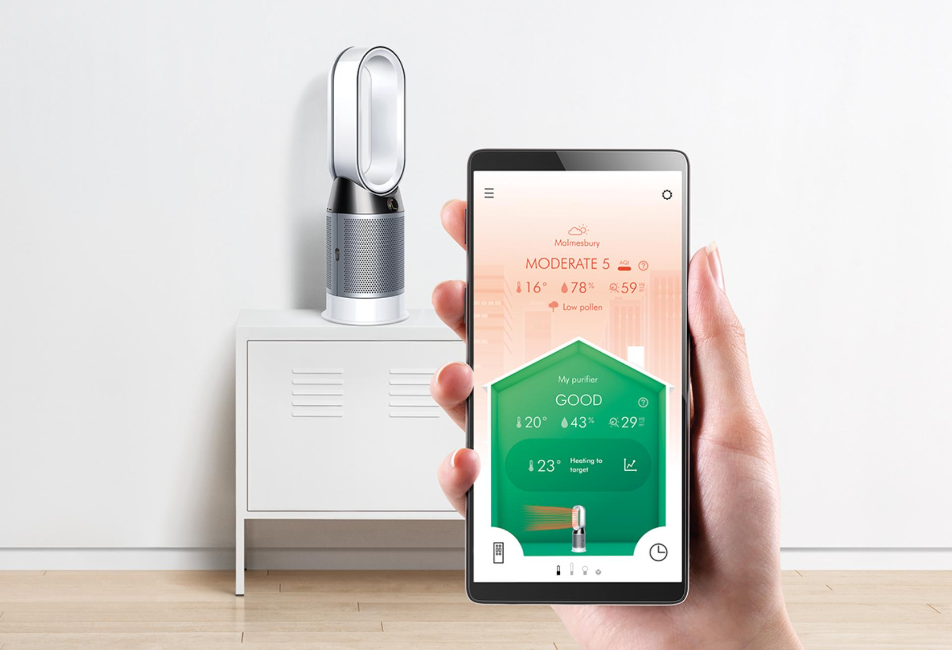Remotely control Dyson air purifiers and monitor indoor air quality with Dyson Link App