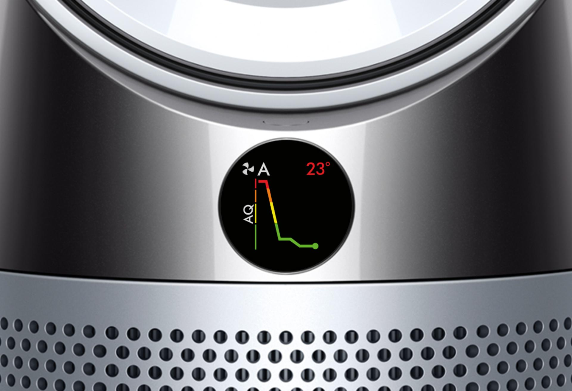 Dyson air purifiers have intelligent sensors that display real-time indoor air quality and indoor AQI