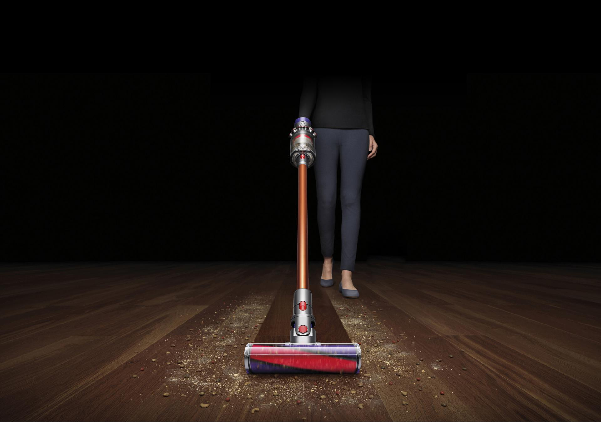 Dyson cord-free vacuums with constant powerful suction and whole- machine filtration capture and seal in allergens and microscopic dust.