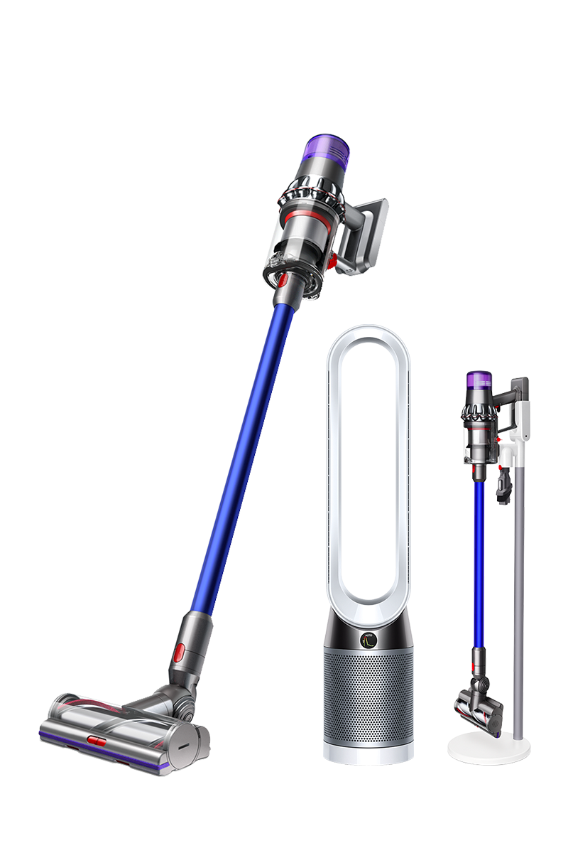 Dyson V11 Absolute Pro (Nickel/Blue) with floor Dok + Dyson Pure Cool™ Advanced Technology Tower (White/Silver)