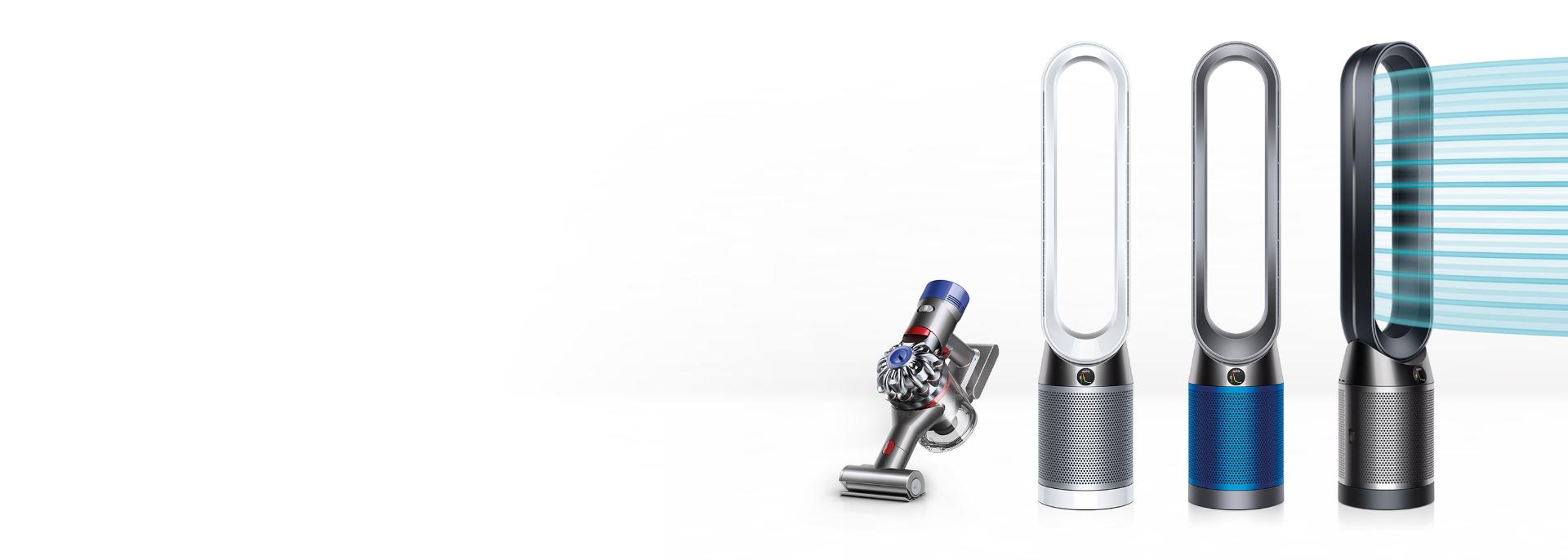 Dyson air purifiers with Dyson V7 Trigger vacuum