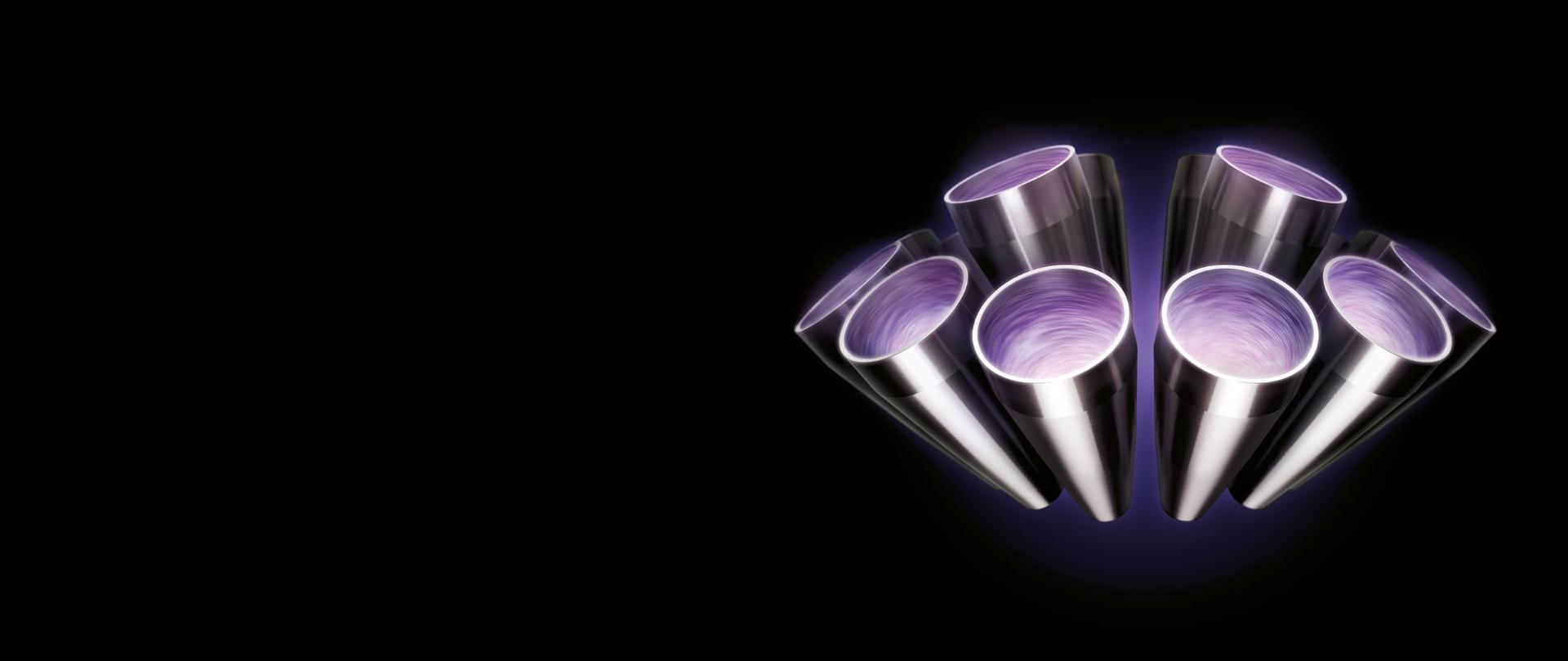 Close up of Dyson Cyclones