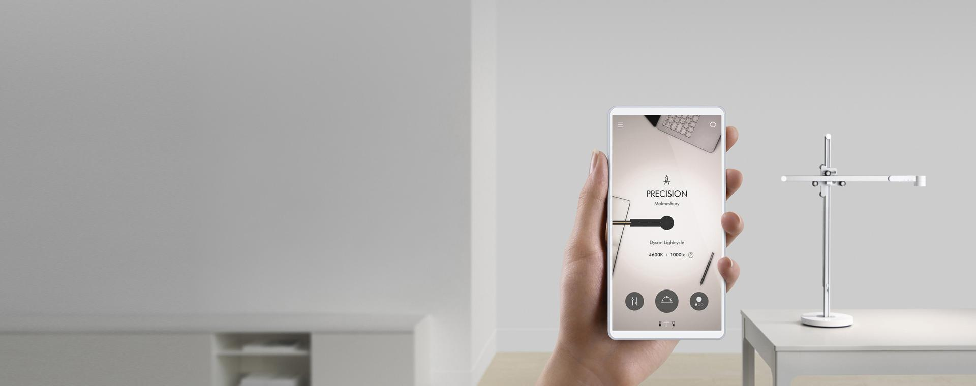 A smartphone screen with the Dyson Link app