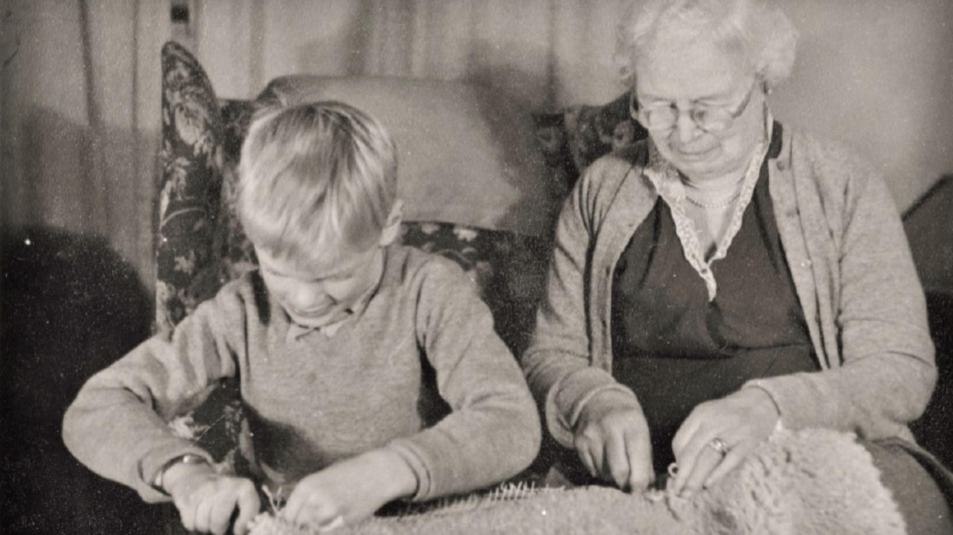James Dyson sitting next to his grandmother