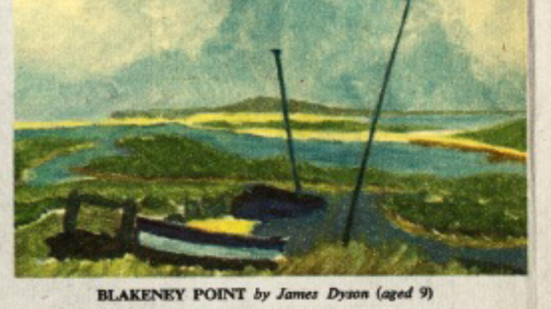 A watercolour painting of the north coast of Norfolk