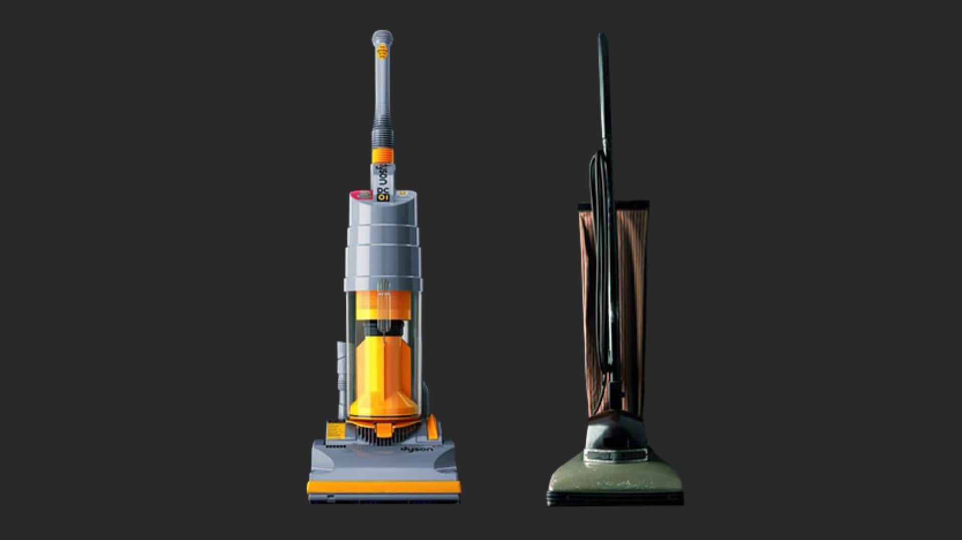 DC01 and a competitor model of vacuum machine