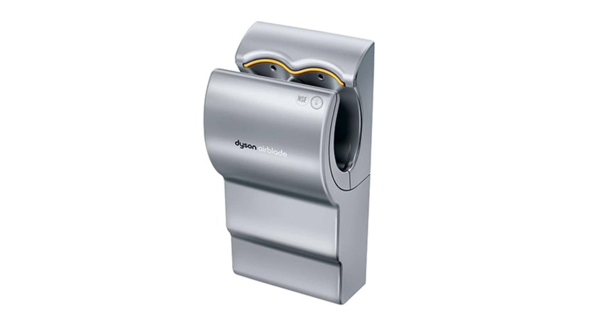 Front view of the AB01 hand dryer