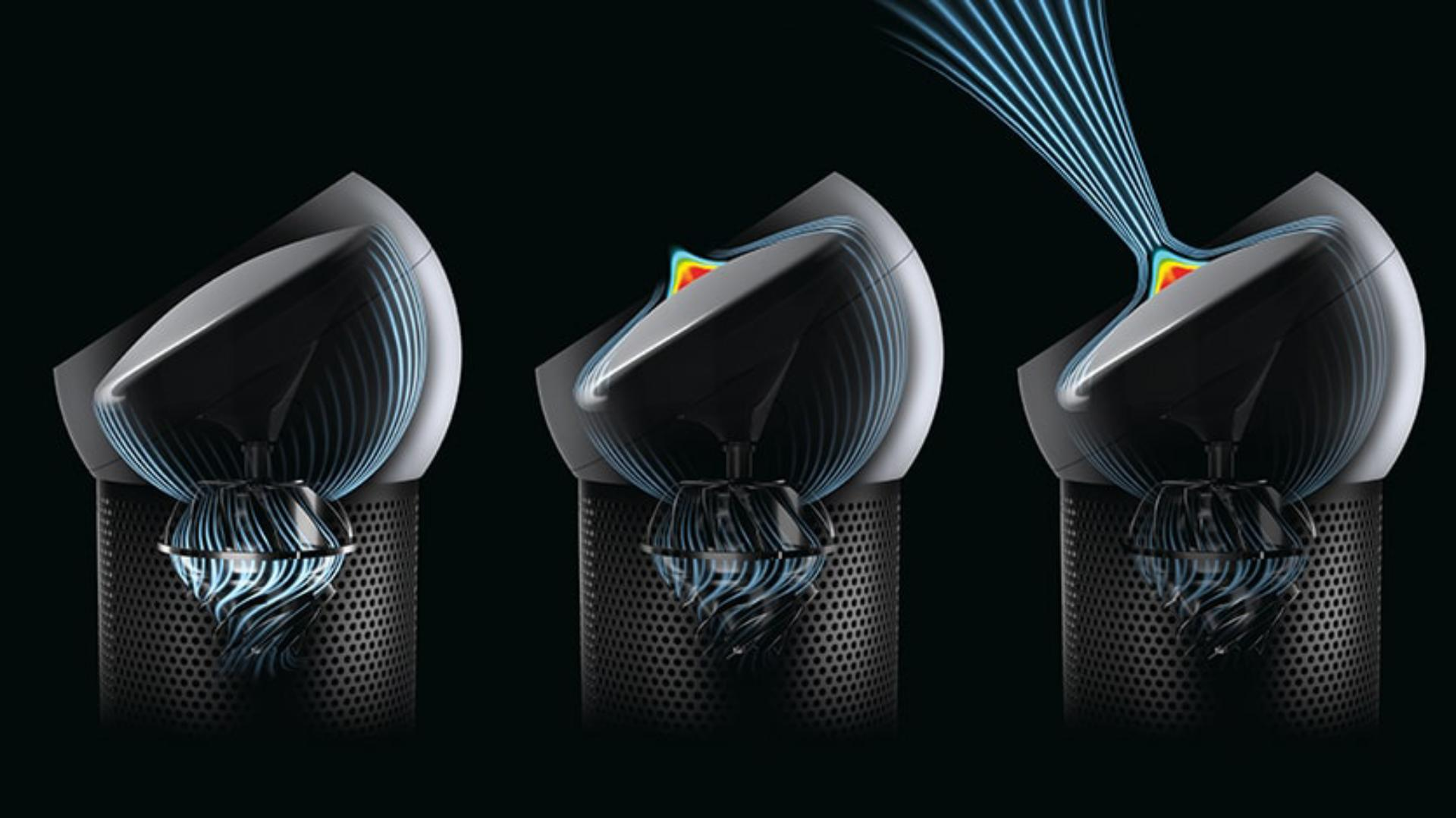 A trio of Dyson Pure Cool Me personal purifying fans