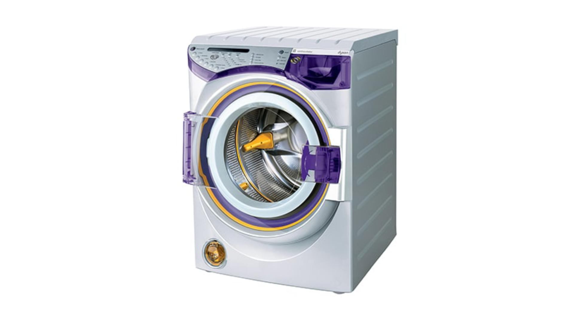 Front view of a Dyson Contratrotator washing machine