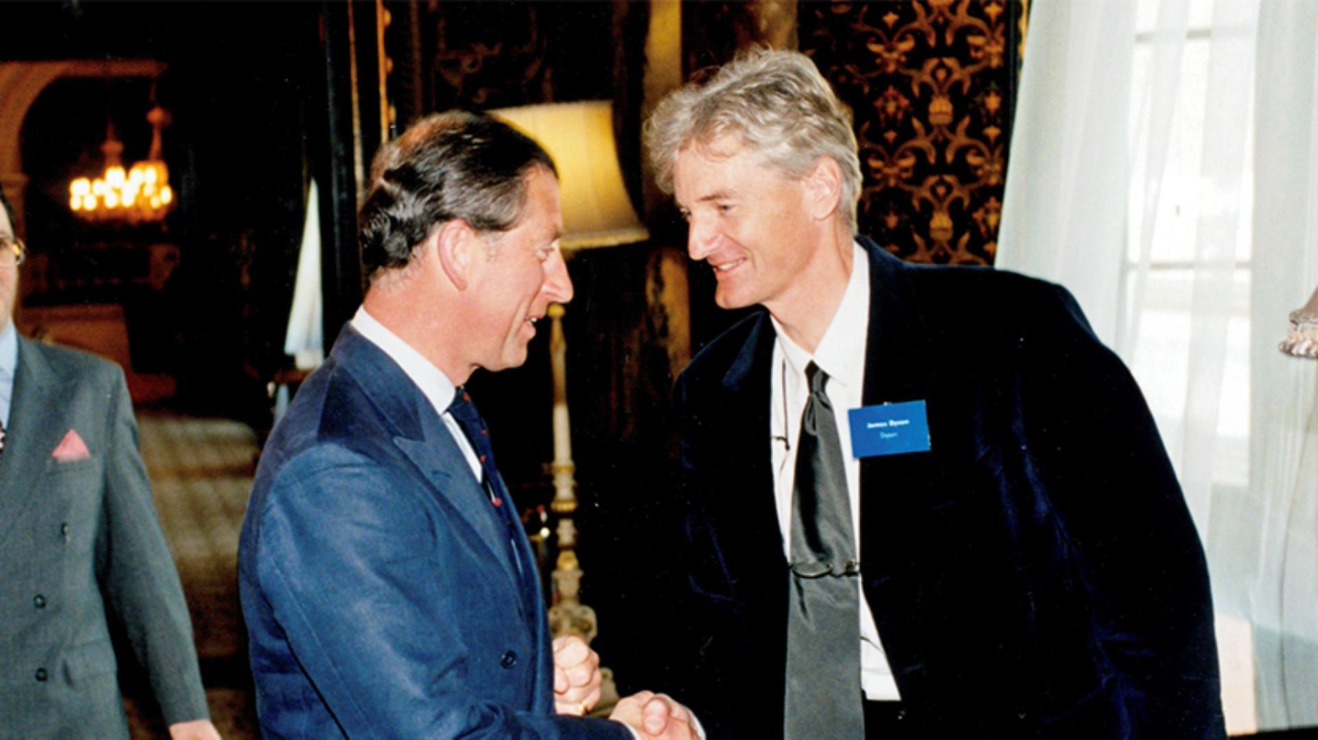 James Dyson meeting HRH Prince Charles