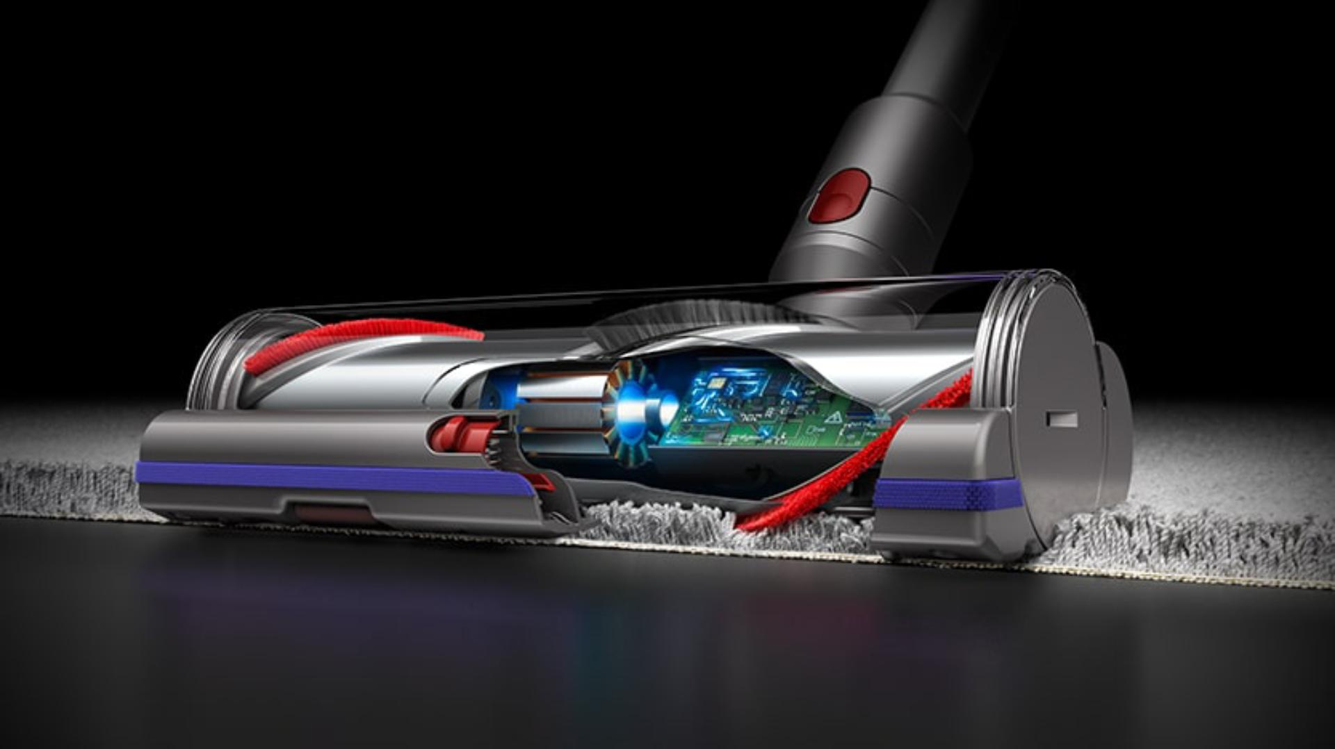 Brush bar technology of Dyson V11 stick vacuum