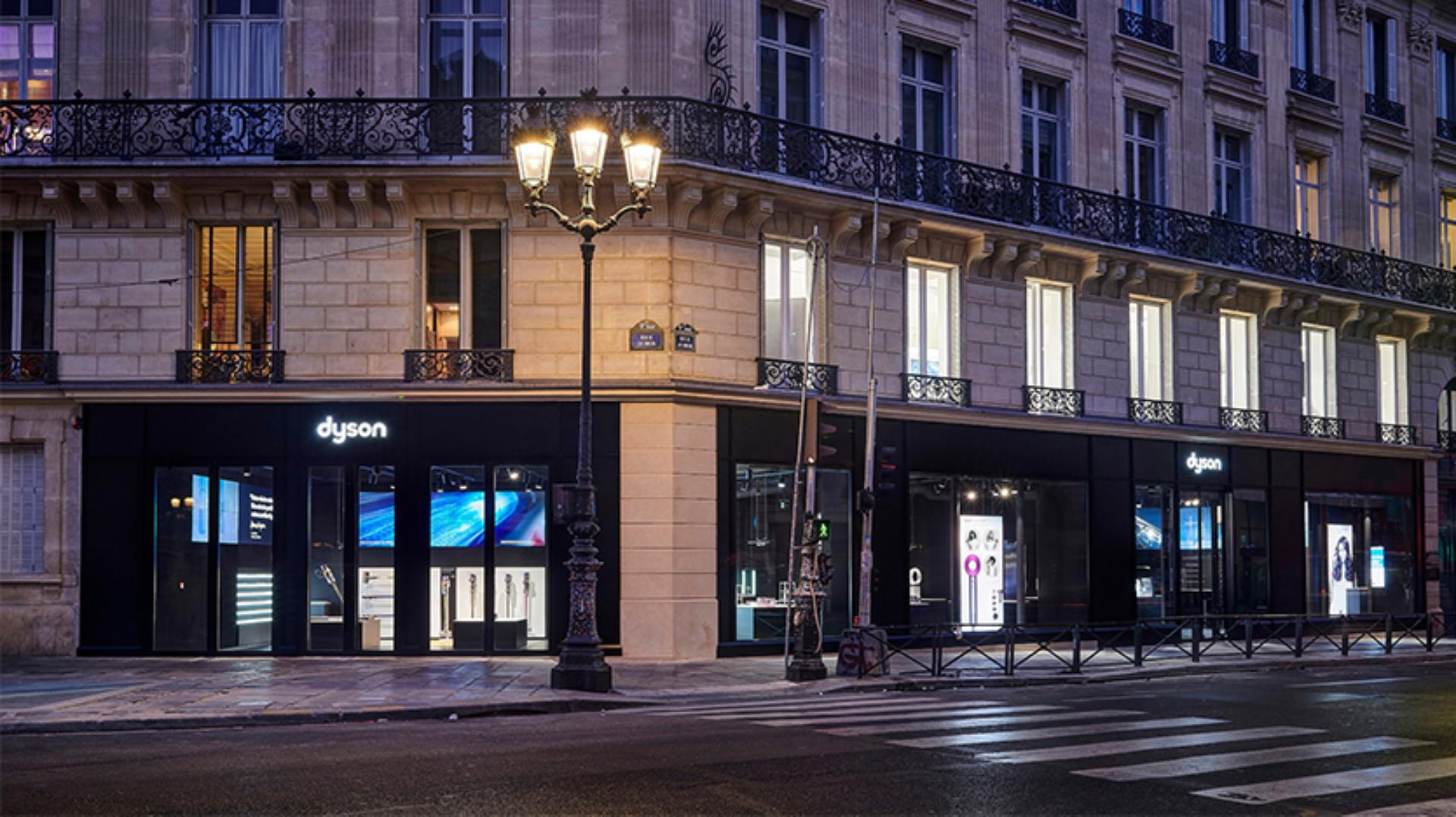 Exterior view of Dyson Demo Store in Paris