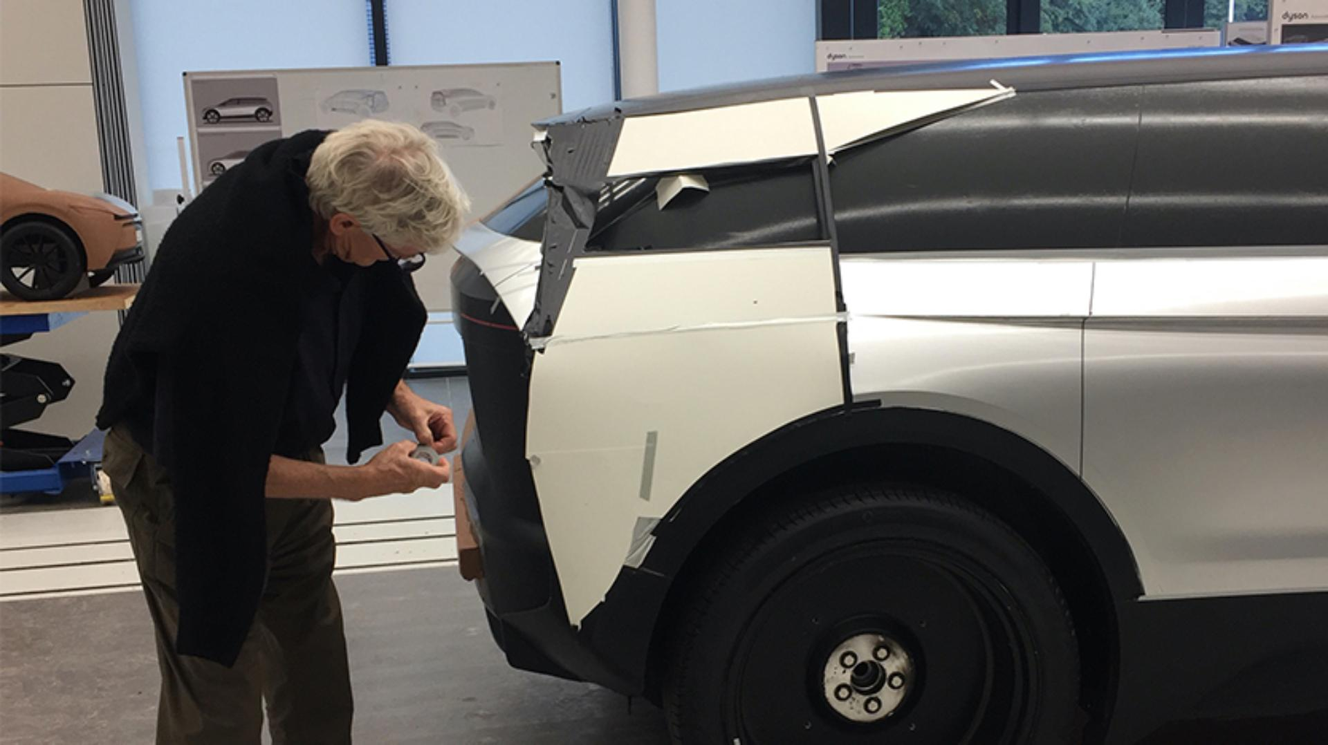 James Dyson working hands-on with the car project