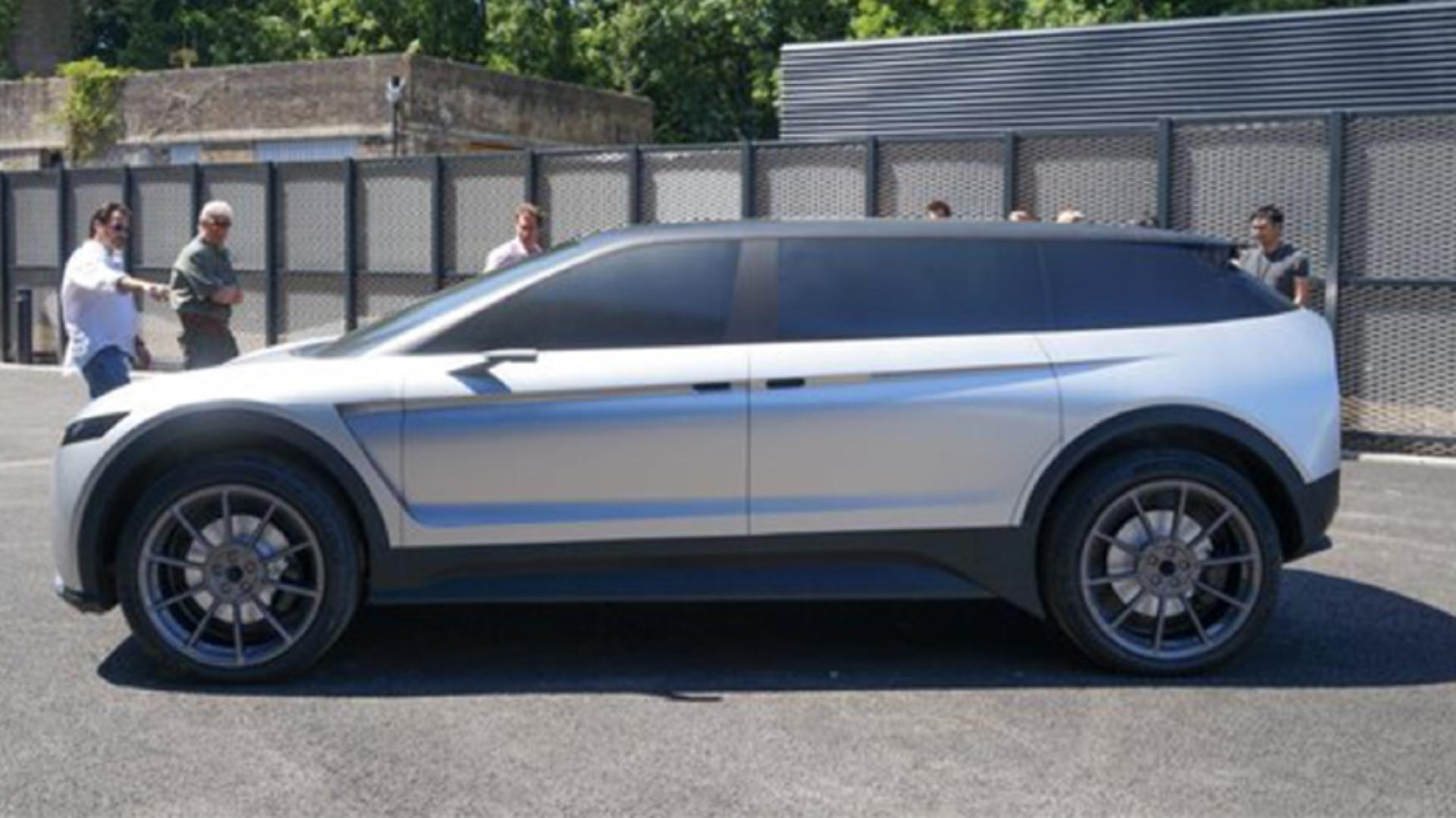 Side view of the exterior of the car