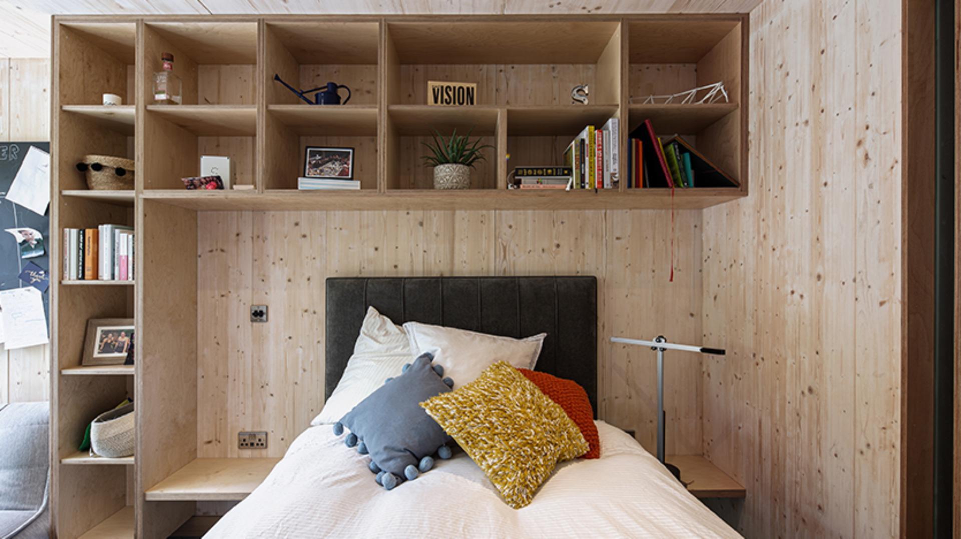 Interior view of the undergraduate living quarters