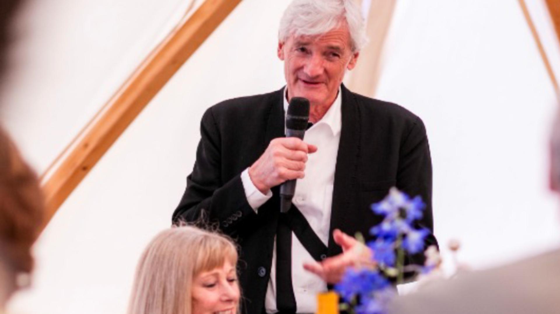 James Dyson making a speech