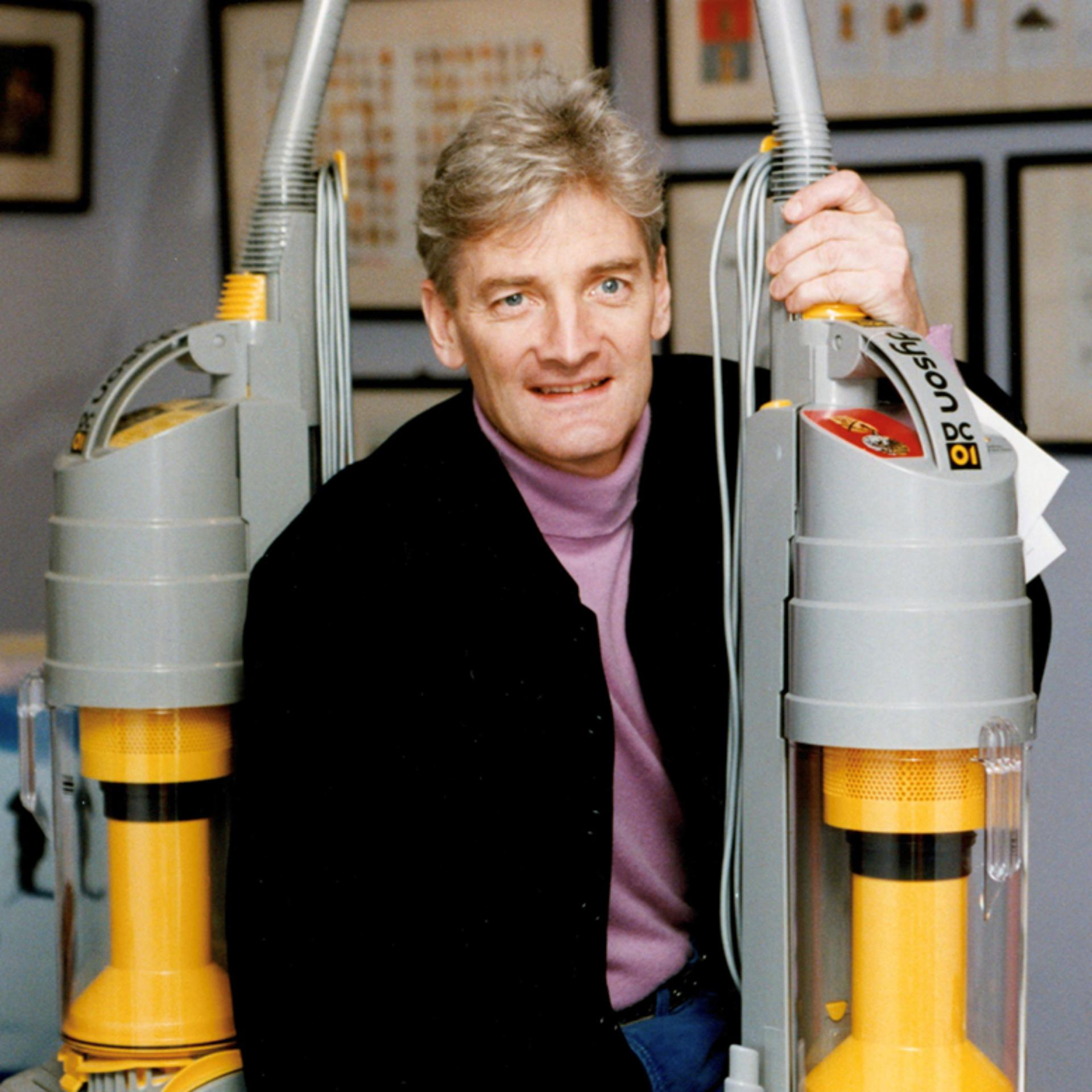 James Dyson photographed with DC01s in 1993