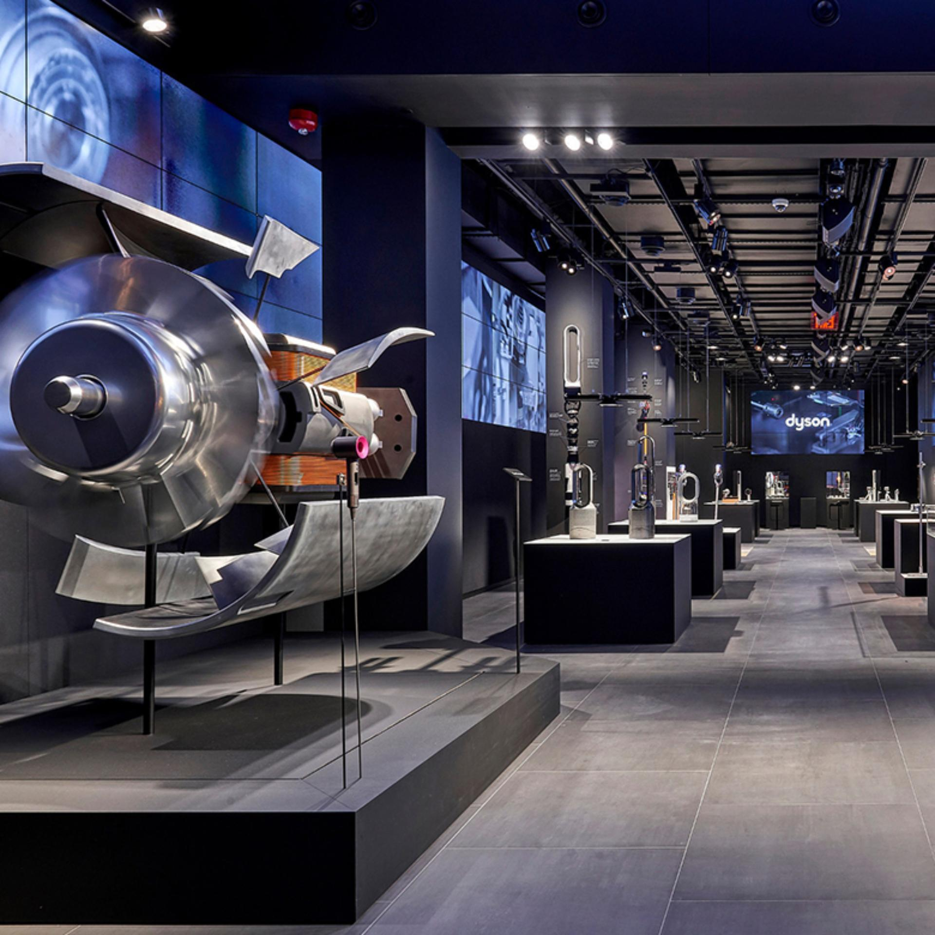 Interior shot of the Dyson Demo Store – New York City