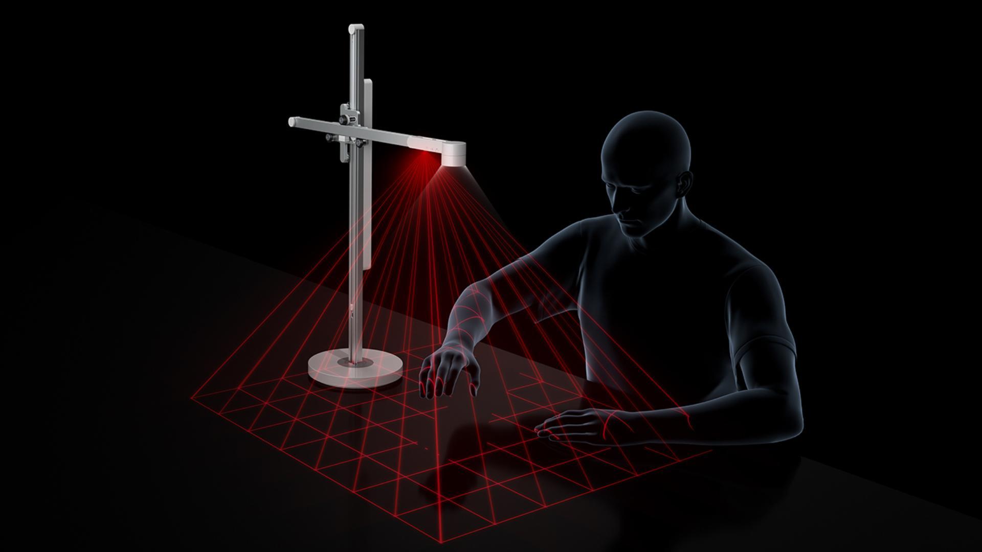 적외선 센서를 묘사하는 첨단 그래픽