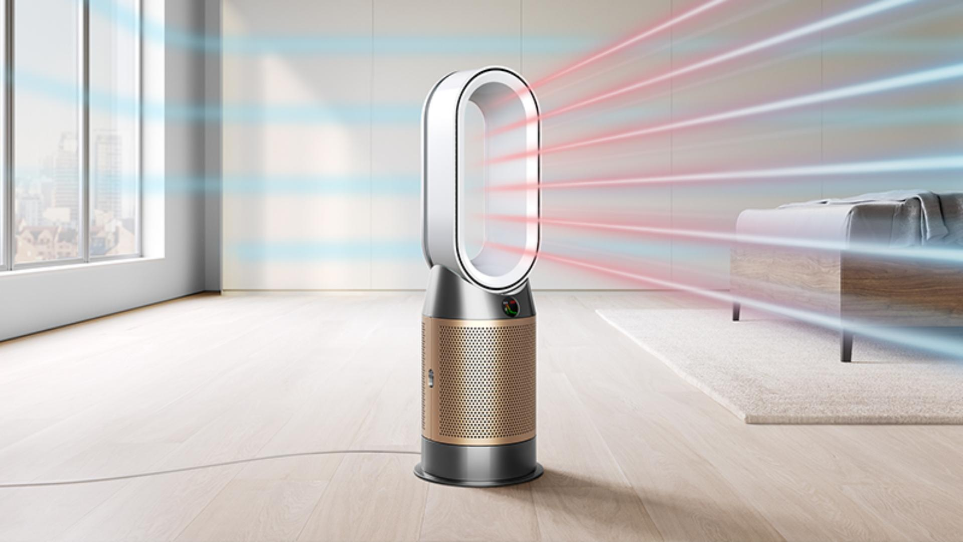 Dyson purifier heating the room