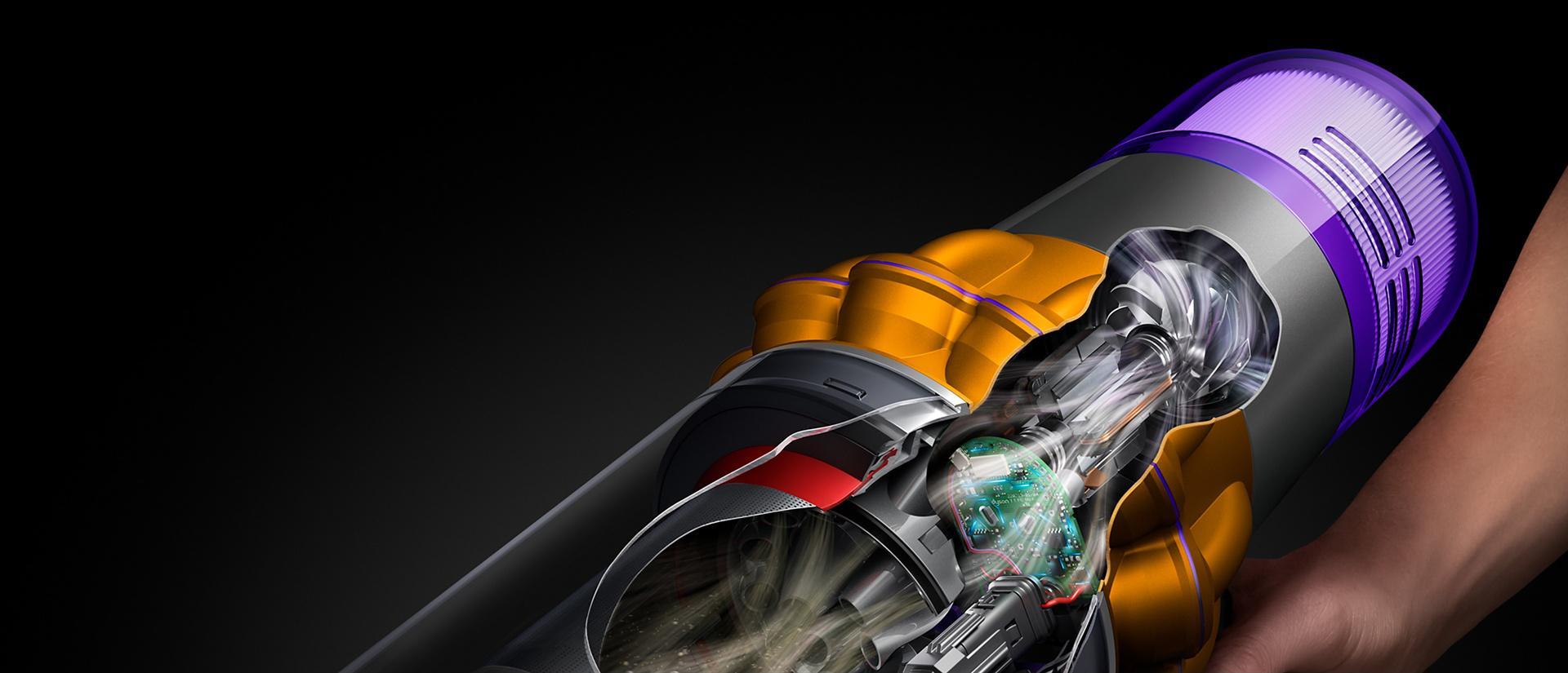 Cutaway image of the Dyson Hyperdymium motor