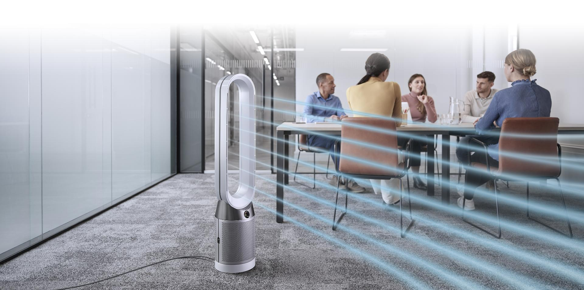 Dyson purifier in an office setting