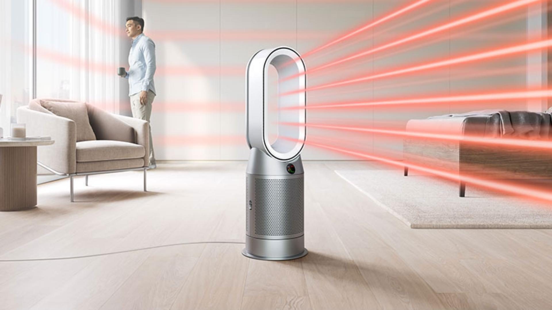 Dyson Purifier Hot+Cool projecting heated, purified air