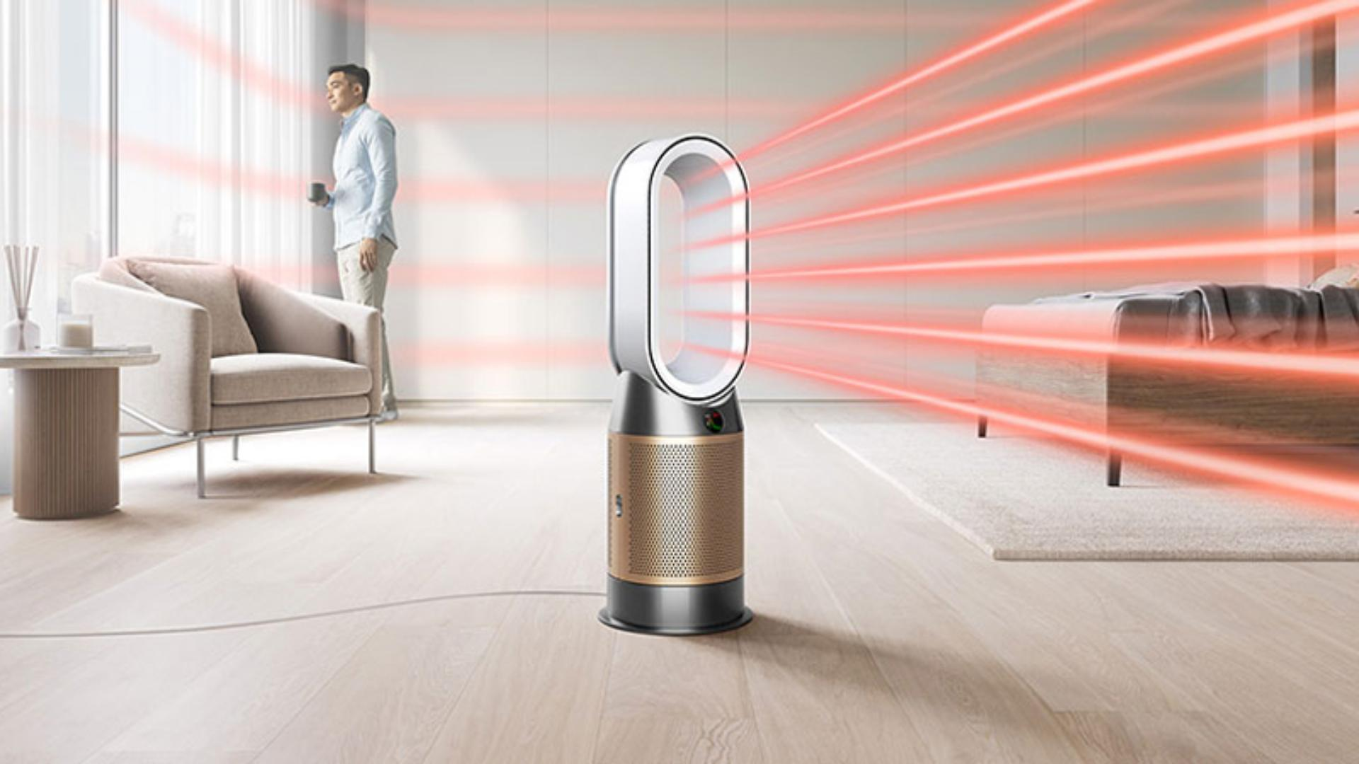Dyson Purifier Hot+Cool Formaldehyde projecting heated, purified air