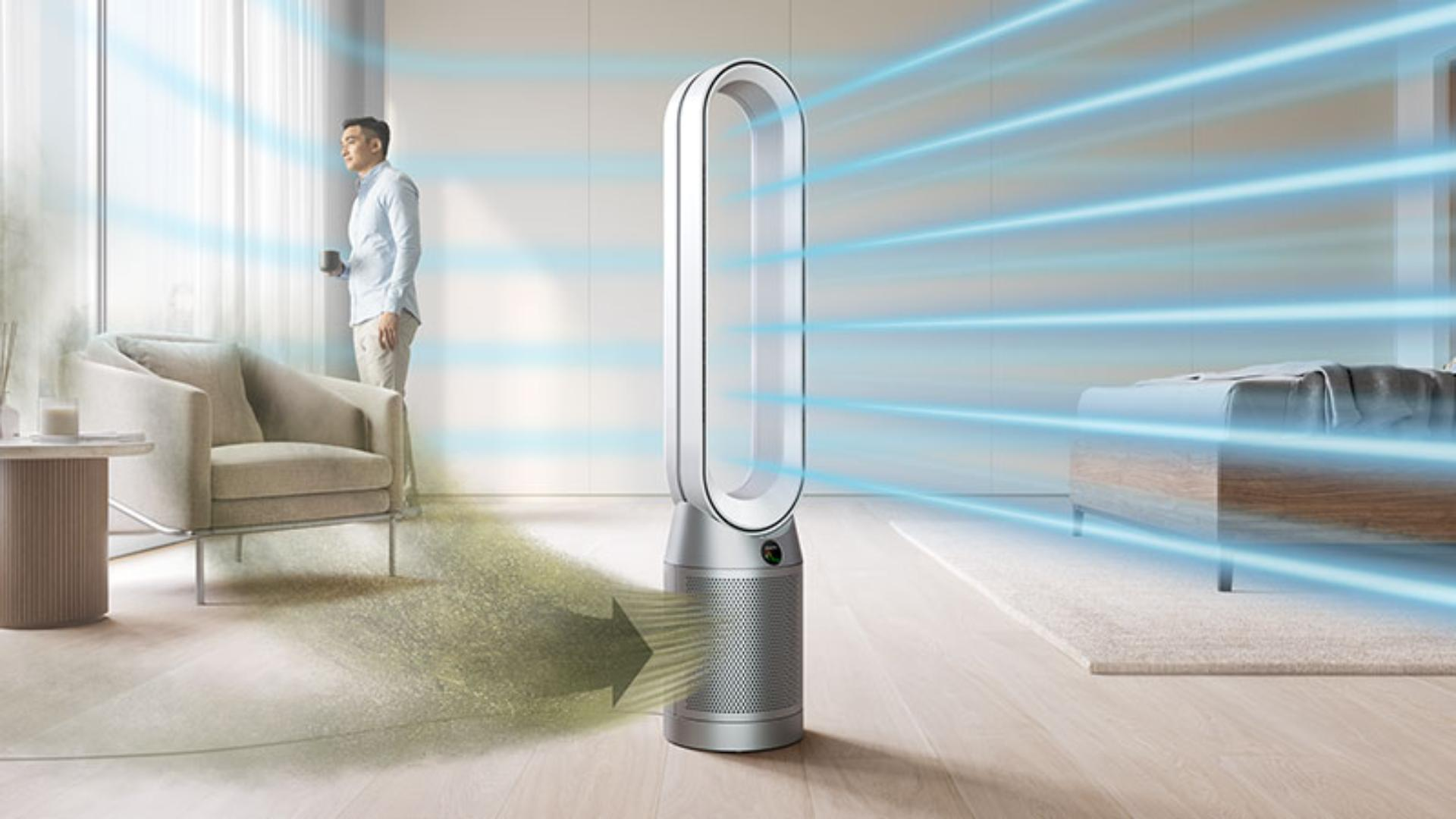 Dyson Purifier Cool projecting purified air
