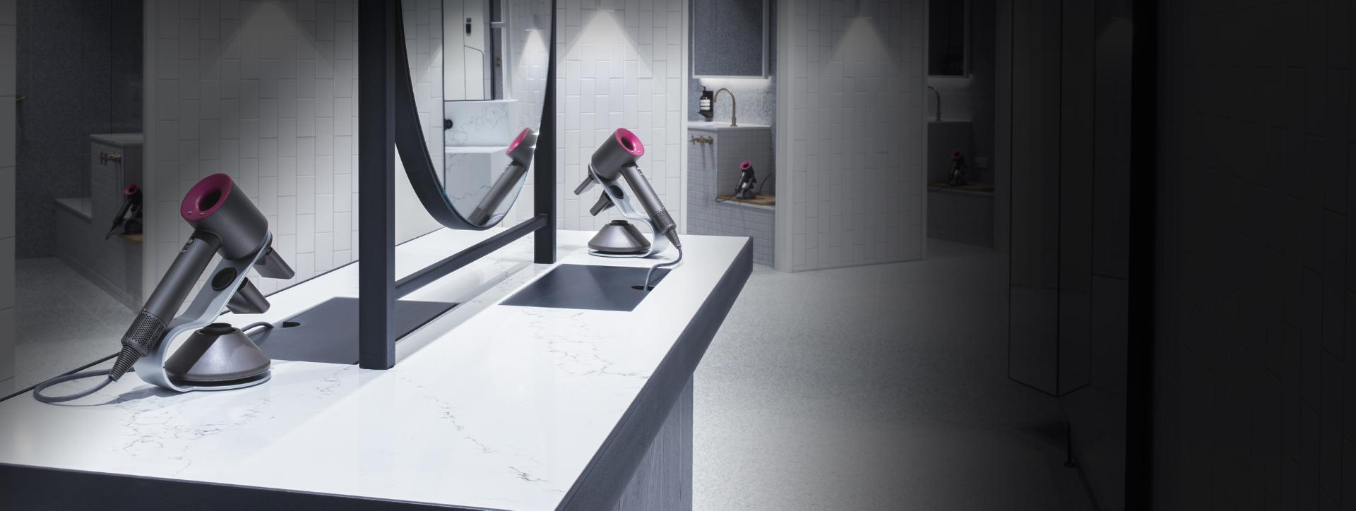 Image of Dyson Supersonics in a dressing room