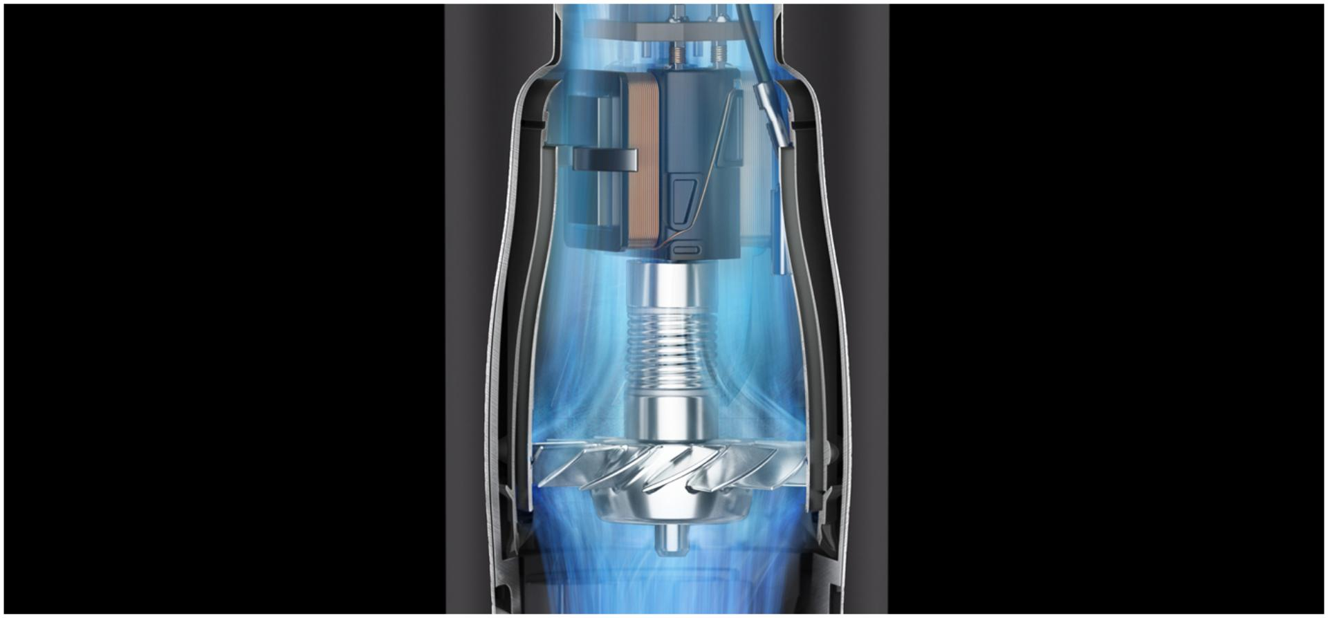 X-ray of the dyson digital motor V9
