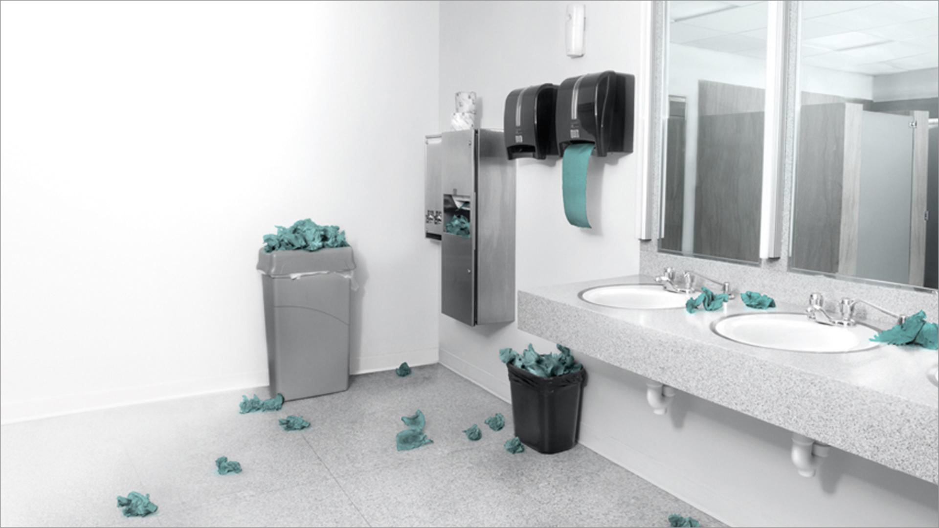 Brudna łazienka