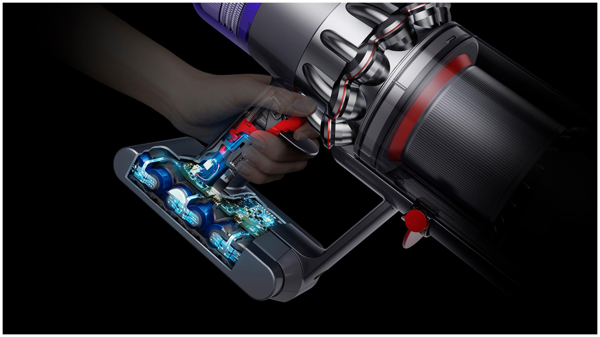 Dyson V11 vacuum battery technology cutaway