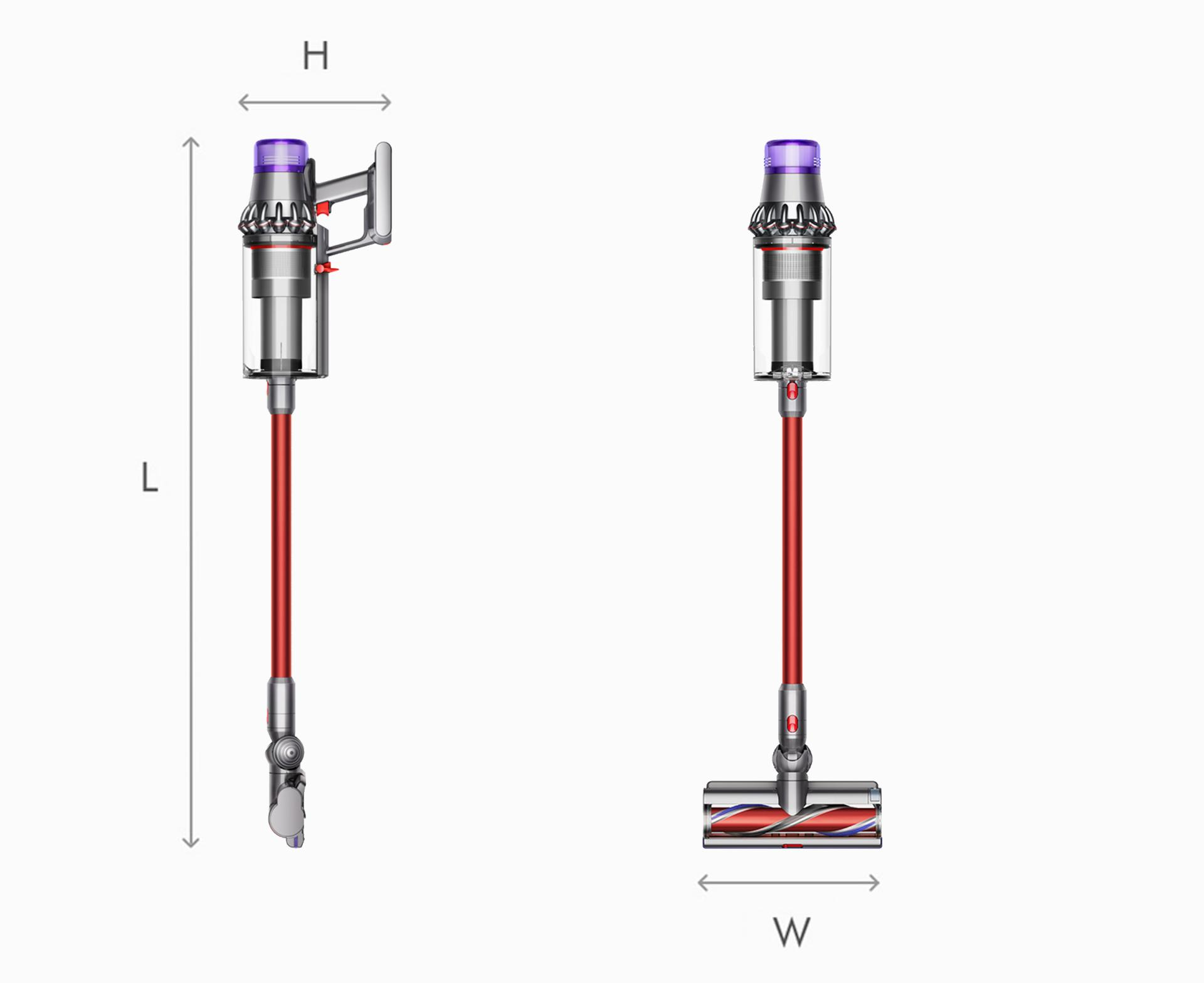 Illustration of Dyson V11 Outsize vaccum cleaner dimensions