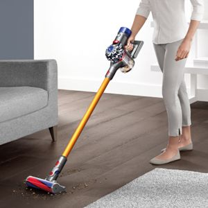 Dyson V8 in use