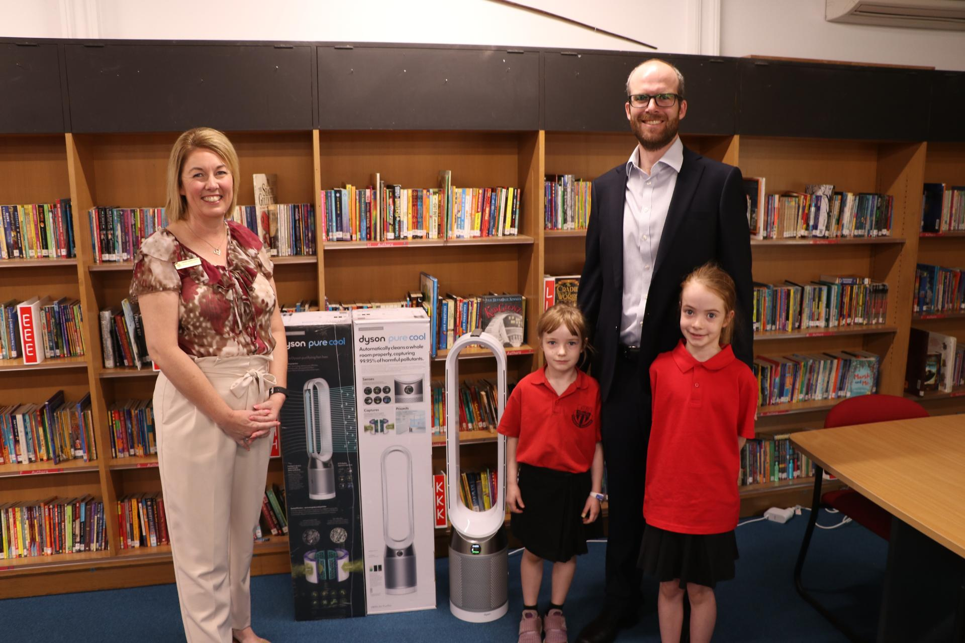 Dyson donating product to local school