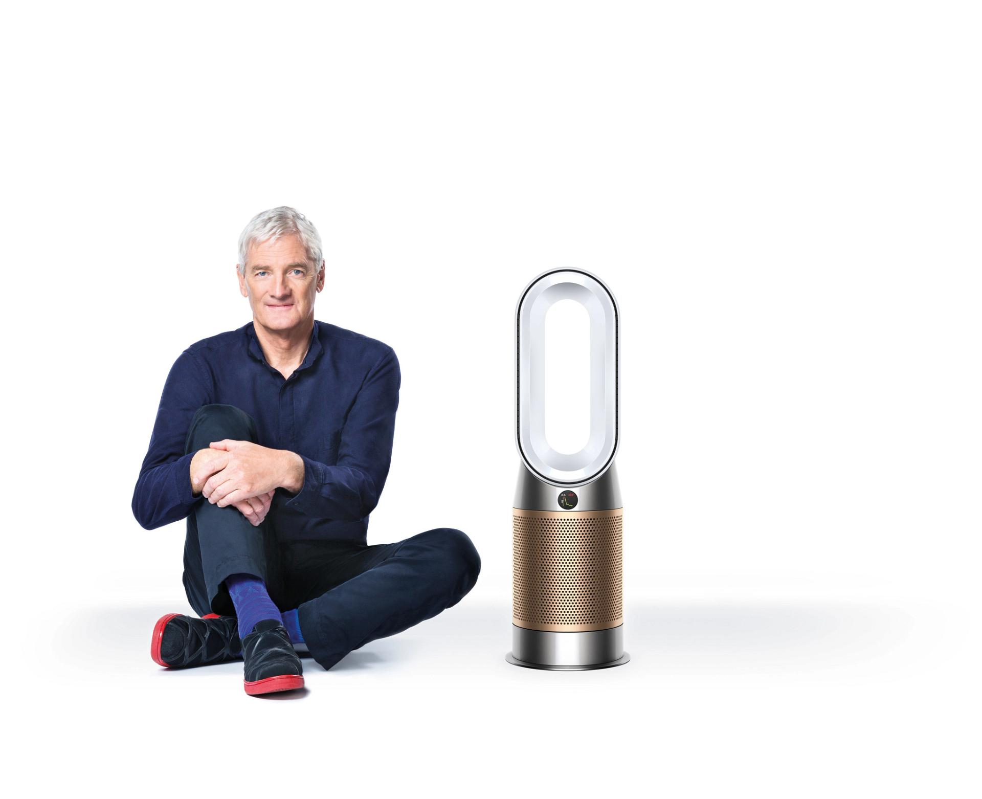 James Dyson with new Dyson Purifer Hot Cool