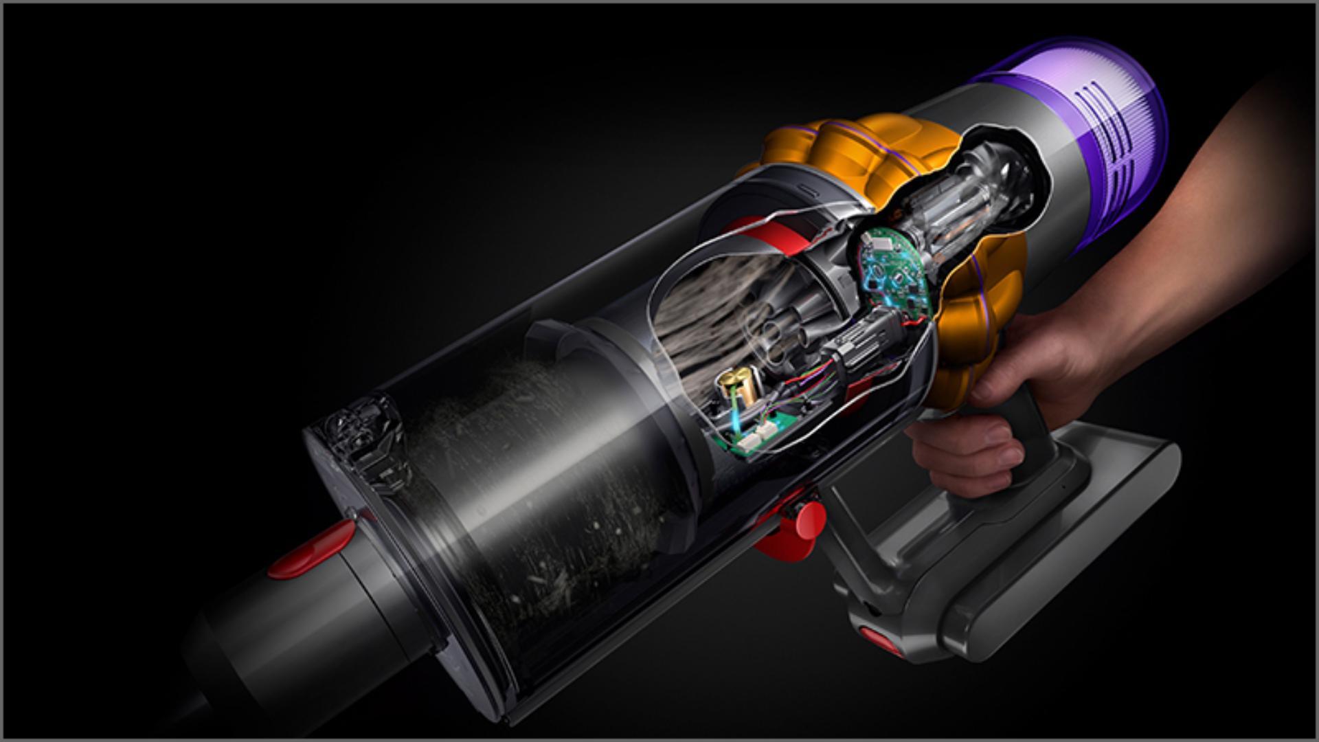 X-ray shot of inside of technology inside Dyson vacuum