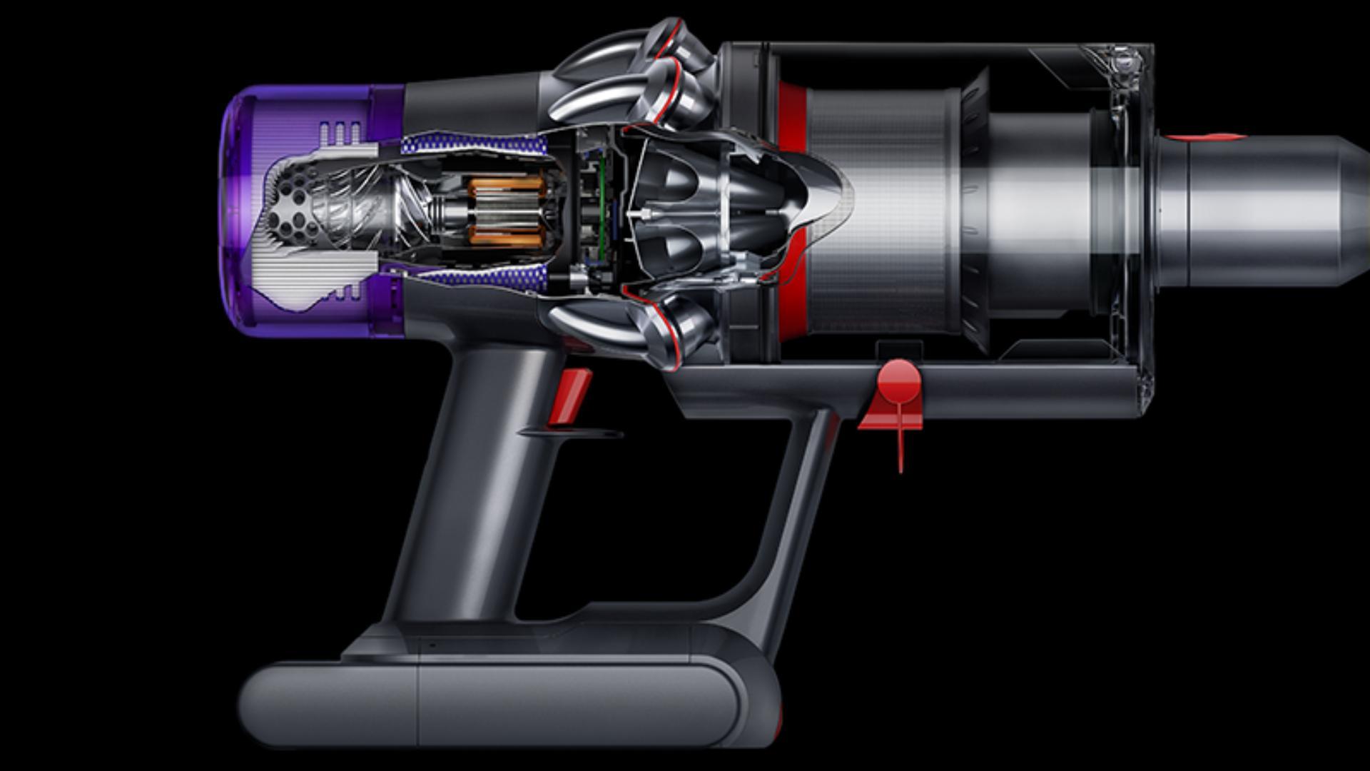 Cutaway of the Dyson V11™ vacuum's motor