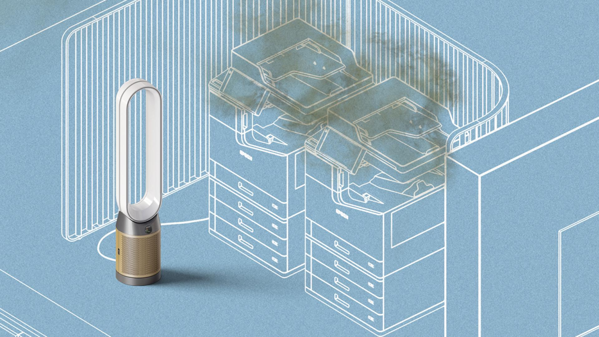 Dyson purifier removing pollutants from air